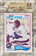 1982 Lawrence Taylor Rookie Hof Rc Topps 434 Bgs 9.5 W/ 10 Gem Mint