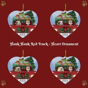 Christmas Honk Honk Red Truck Dogs Cats Heart Christmas Tree Ornament