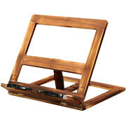 10xfoldable Recipe Book Stand Wooden E Reading Bookshelf Tablet Pc