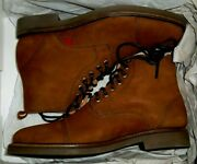 New 225 Marc Joseph Lincoln Ctr Cappuccino Brown Nubuck Ankle Boots 40= 8.5 W