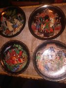 Lot Of 4 Tianex Russian Porcelain Collector Plates 1988 / 1990