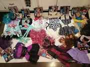 Huge Lot 9 Monster High Costumes Size L 12/14 Abbey Lagoona Clawdeen Honey Swap