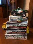 5 Classic Vintage Toys Hess Trucks Vehicles 4 Nib Jeep Bank And Tractor Helicopter