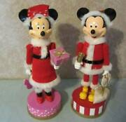14 Disney Mickey And Minnie Mouse Wooden Nutcracker Figurines Christmas