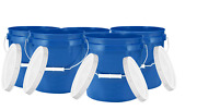 2 Gallon Plastic Bucket Container With Lid Food Grade Bpa Free Pack Of 5