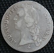 France Louis Xv Ecu With Band 1762 A Silver