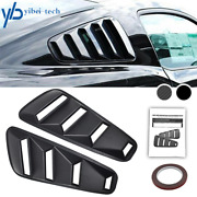 For Ford Mustang 1/4 Quarter Black Side Window Louvers Scoop Cover Vent 2005-14
