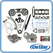 For 07-08 Chevy Cobalt 2.2 Timing Chain Water Oil Pump Kit Head Gasket Set