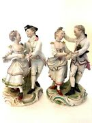 Derby Porcelain Rare Pair Of Figures Of A Sailor And His Wife Dancing C1770