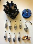 New Ignition Kit Vauxhall Bitter Cd V8 Plugs Contacts Distributor Rotor