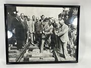 Framed Overland Railroad 1942 Train Pictures Wall Hanging Metal Frame 20x16