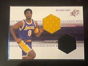 1999-00 Ud Spx Kobe Bryant Winning Materials Shoe Jersey Patch Combo Lakers