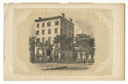 Northeast Corner Of Broadway And 19th St., New York - Antique Lithograph, Ca 1869