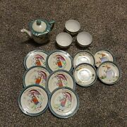 Childs Mother Goose Nursery Rhymes 14 Pc Tea Set Made In Japan Chilrens Play