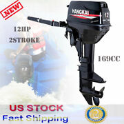 12hp 2stroke Outboard Motor Fishing Boat Engine Water Cooling Sys 169cc 8800w