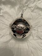 2012 Wallace Candy Canes Sterling Sleigh Bell 18th Edition Nib