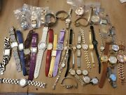 Large Mixed Lot Wrist Watches Watch Ladies Retro Modern Wenger Timex