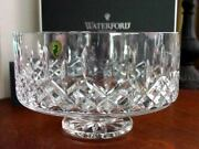 Waterford Crystal Lismore Footed Simplicity Bowl 8 Made In Ireland - New / Box