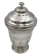Sterling Silver Covered Kiddush Cup / Beaker By Tane