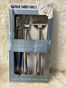 Blue Ember Stainless Steel 3 Piece Bbq Tool Set 3pts Be46-6100 New T1