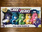 2020 Care Bears Bean Plush-special Collector Set Exclusive Harmony Bear New