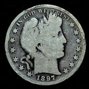1897-s Barber Half Dollar ✪ Vg Very Good Details ✪ 50c Silver L@@k Now ◢trusted◣