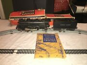 Antique 1948 Lionel 1655 Steam Switcher Engine With 6654w Tender With Boxes