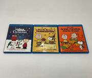 Lot Of 3 Charlie Brown Christmas Thanksgiving Halloween Blu-ray Dvds