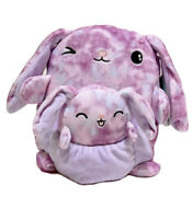 Squishmallow Kellytoy 8 Lilac The Bunny And Baby Plush Doll Toy Pillow Pet