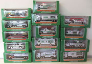 14 Miniature Hess Toys - Years 2000 To 2013 All New In Box See Photo
