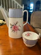 Spode Bone China Maritime Rose Blue Coffee Pot No Lid And Cup
