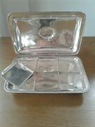 Antique Solid Silver Toasted Cheese Dish London 1801 With Removable Dishes.
