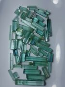 75_gm Beautiful Natural Rare Seafom Colour Tourmaline Crystals From Afghan