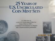 Us Uncirculated Coin Mint Set Collection Complete 1962 To 1987 Super Collection