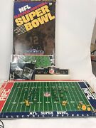 Vintage Tudor Nfl Electric Football Game Super Bowl Players Accessories