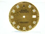 Menand039s Rolex Datejust Jubilee Pie Pan Champagne Color With Diamonds Dial
