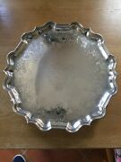Quality Antique Solid Silver George Ii Salver - Tray - Table Top London 1731