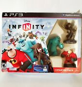 Ps3 Disney Infinity Starter Pack Incredibles Monsters Inc Pirates Caribbean
