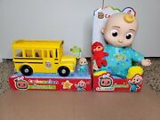 ✅ Cocomelon Toy Bundle Jj Plush + Yellow School Bus   In Hand   Fast Shiping 🚚