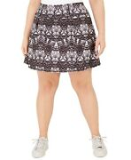 Ideology Plus Size Tie-dyed A-line Skort Abstract 3x
