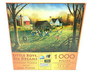 Sunsout And039little Boys Big Dreamsand039 1000 Piece Puzzle Sam Timm 19 X 30 - New