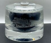 Vintage Rr Advertising Prorail Etched Lucite Acrylic Candy Jar W/lid Rare Train