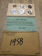 1958-p Proof Set United States Us Mint Original Government Packaging