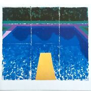 David Hockney Rare 1978 Iconic Tyler Graphics Lithograph Print Paper Pool 7