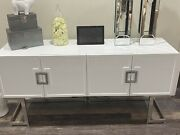4 Door buffet Cabinet Console Storage And Display