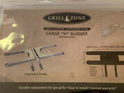 New Grill Zone Universal Fit Large H Burner For Gas Grills 2 Control Knob