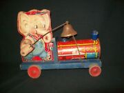 Vintage Fisher Price 767 Tiny Ding Dong Elephant Train Engine 1941 Very Rare