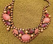 Antique Costume Jewelry Necklace Choker Fashion Art Deco 1930and039s Collectible