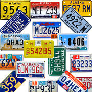 Usa Motorcycle License Plate. Pick Your State. Plates Tags