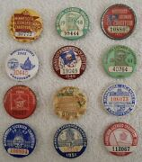 Vintage 1944 To 1955 Minnesota Licensed Chauffeur Pinback Button License Badge